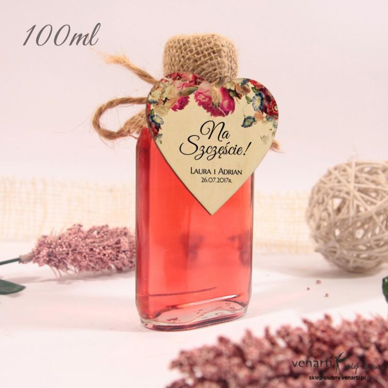 Eko kwiaty Ślubne butelki z serduszkiem drewnianym