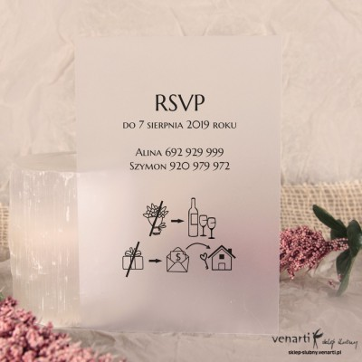 RSVP / Transparentna wkładka do zaproszeń
