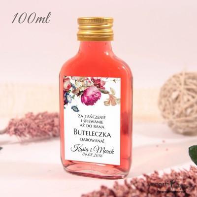 Eko kwiaty Ślubne butelki z etykietą