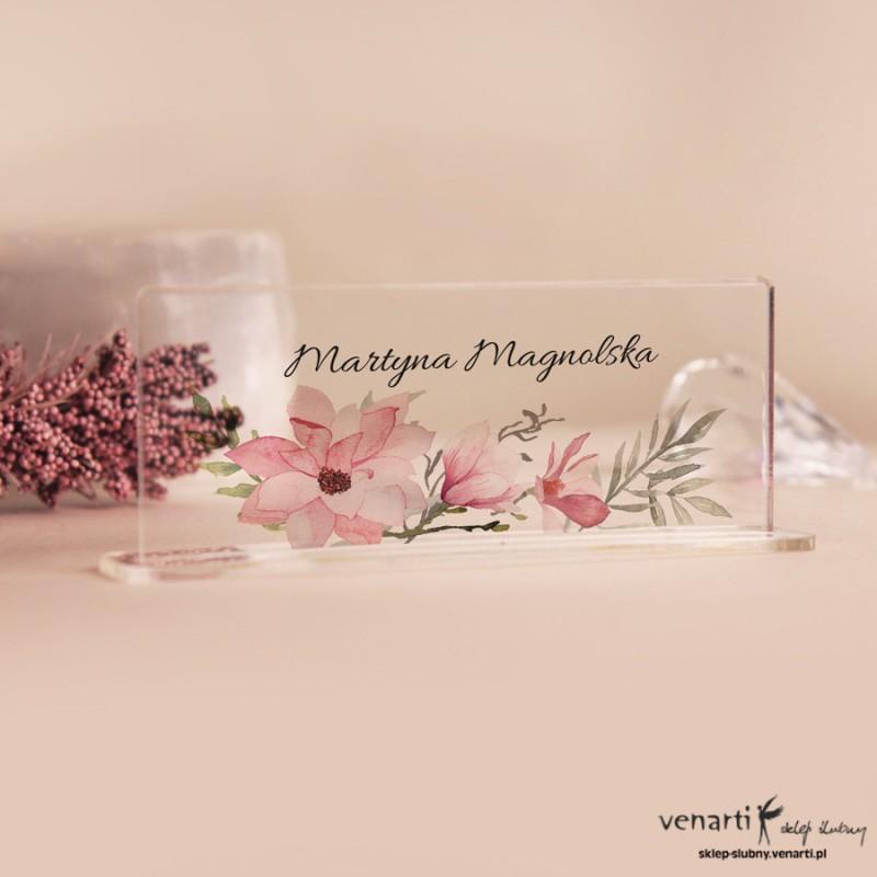 Magnolia Winietki ślubne z pleksy
