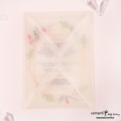 HURT Przeźroczyste etui do szklanych zaproszeń A6