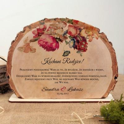 Eko kwiaty Podziękowania dla Rodziców Ślubna statuetka Plaster brzozy