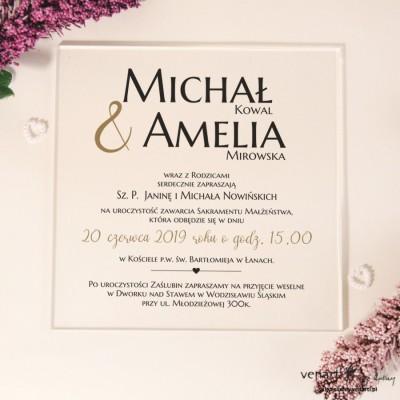 Przeźroczyste zaproszenia ślubne z pleksi