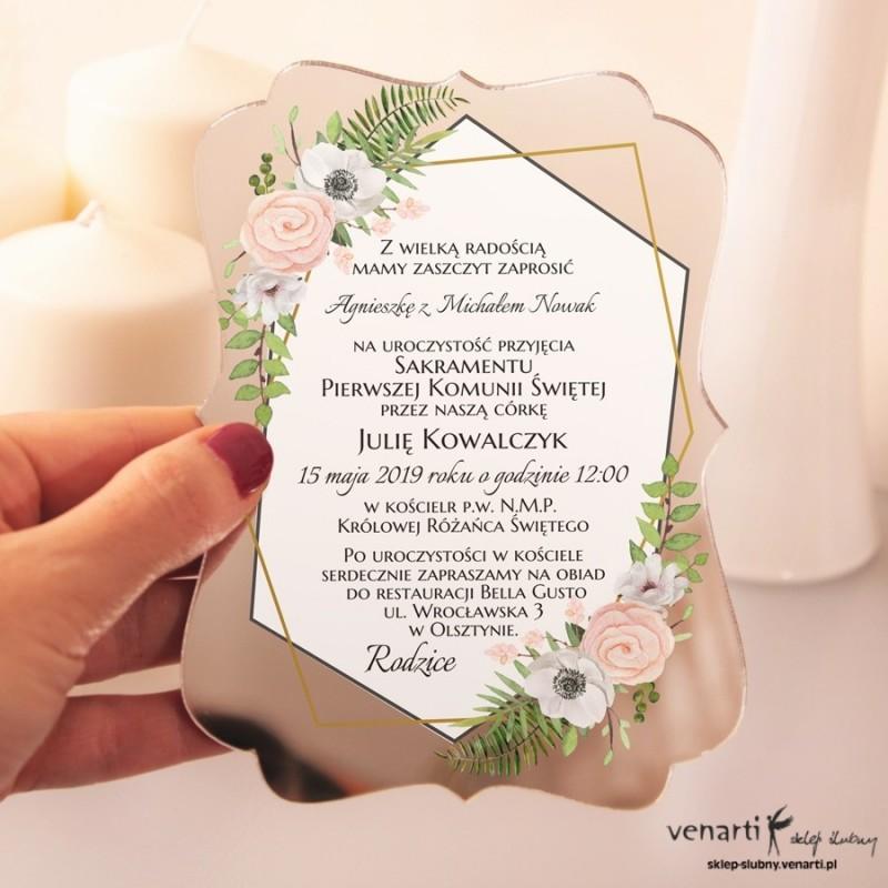 Anemone Lustrzane zaproszenia ślubne