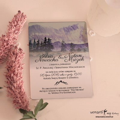 Góry Lustrzane zaproszenia ślubne