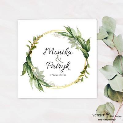 Zaproszenia ślubne Koło z liści