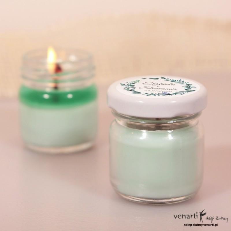 Sojowa świeczka zapachowa w słoiczku w kolorze turkusu