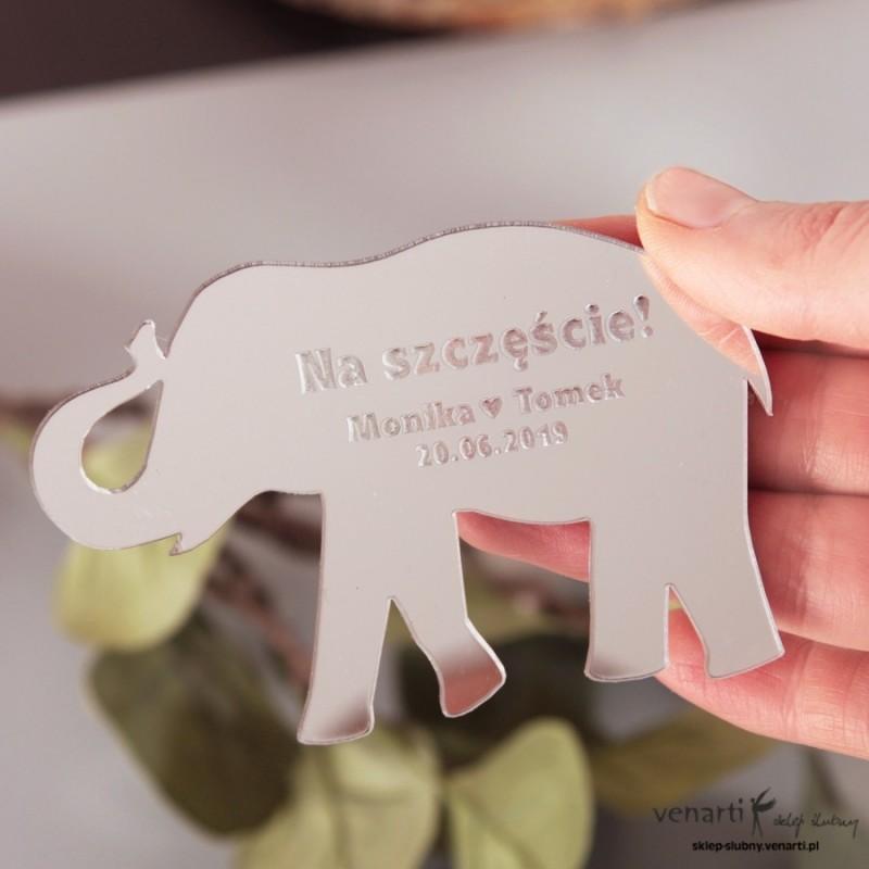 Słonik na szczęście Magnesy lustrzane na lodówkę