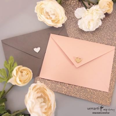 Lustrzane serduszka na koperty ślubne