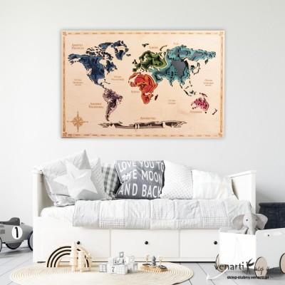 Warstwowa mapa świata 3D