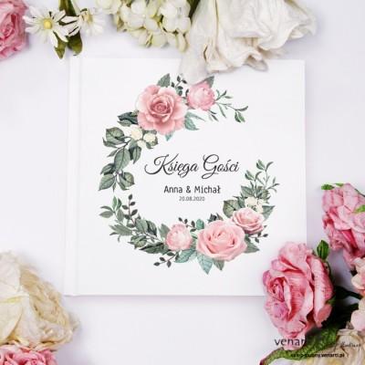 Pudrowe róże Ślubny, biały album, księga gości