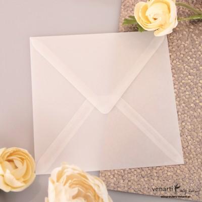 HURT Przeźroczyste koperty do zaproszeń K4