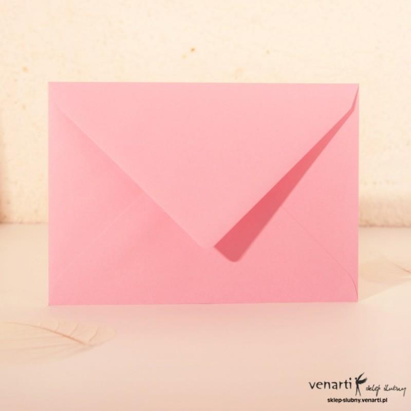 Gładkie koperty C6 róż szpic
