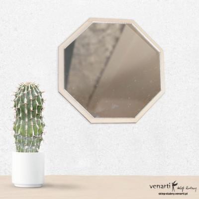 Ośmiokąt Lustro ażurowe na ścianę