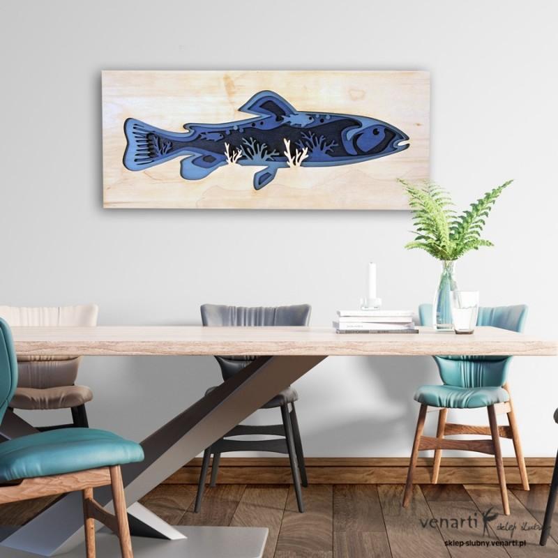 Ryba z głębią Warstwowy obraz 3D