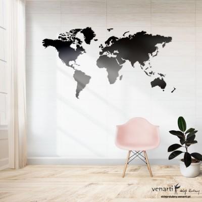 Mapa świata Wycinany obraz na ścianę