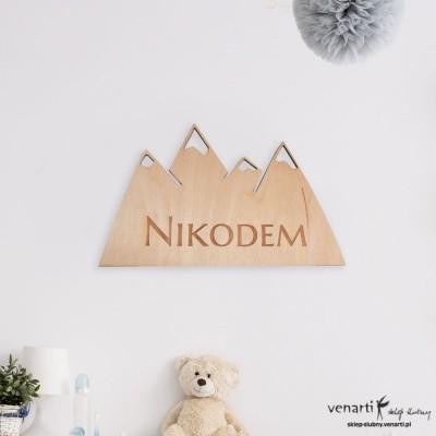 Góry Wycinana ozdoba na ścianę