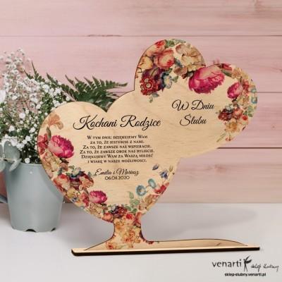 Eko kwiaty Ślubna statuetka Podziękowanie dla rodziców