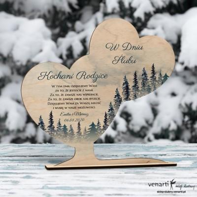 Las Ślubna statuetka Podziękowanie dla rodziców