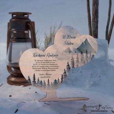 Góry Ślubna statuetka Podziękowanie dla rodziców