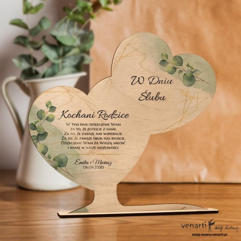 Liście eukaliptusa Ślubna statuetka Podziękowanie dla rodziców