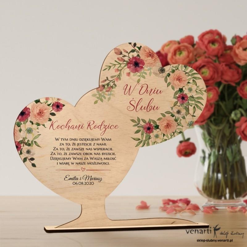 Bukiet kwiatów Podziękowanie dla rodziców ze zdjęciem