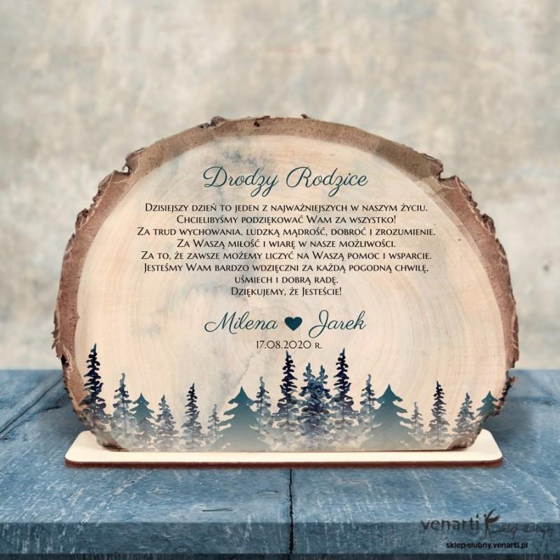 Las Podziękowania dla Rodziców Ślubna statuetka Plaster brzozy