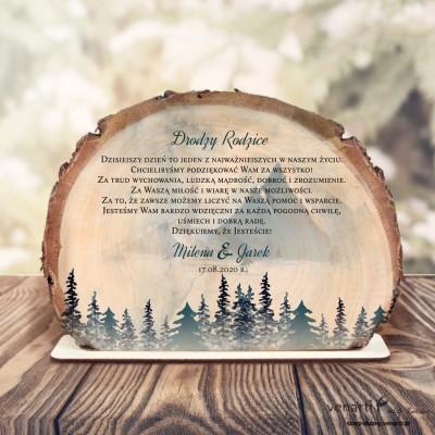 Góry Podziękowania dla Rodziców Ślubna statuetka Plaster brzozy