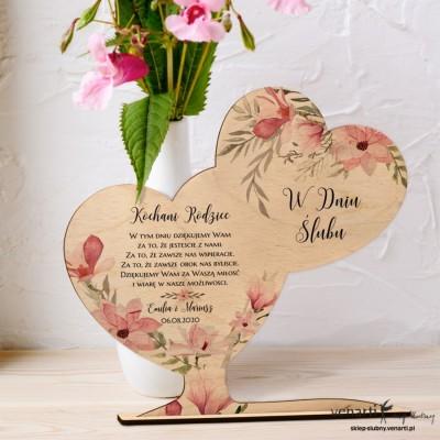 Magnolia Ślubna statuetka Podziękowanie dla rodziców