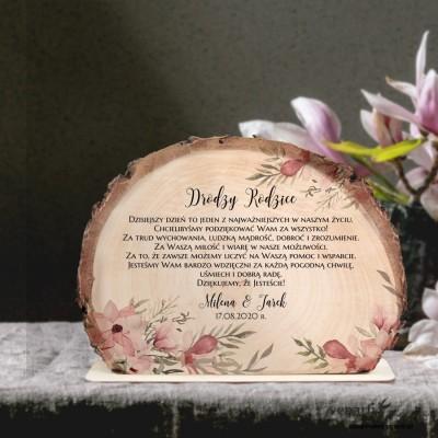 Magnolie Podziękowania dla Rodziców Ślubna statuetka Plaster brzozy