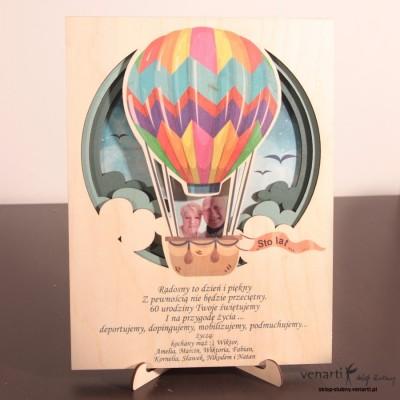 Balon Warstwowa ramka ze zdjęciem Prezent na urodziny