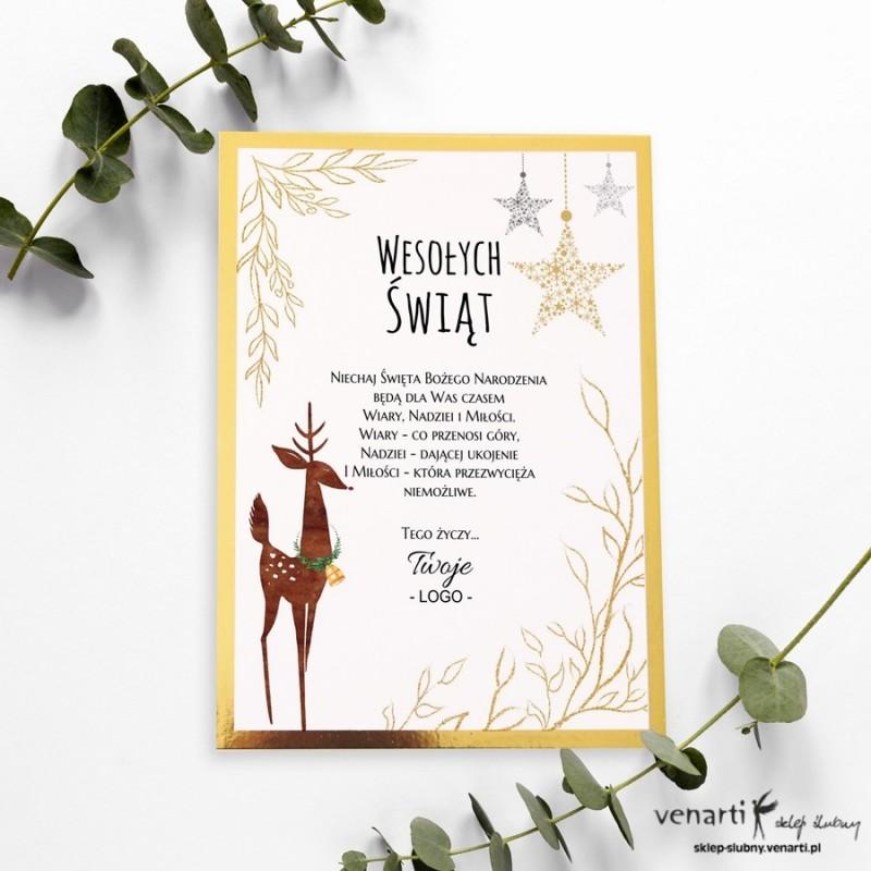 Renifer papierowe kartki świąteczne