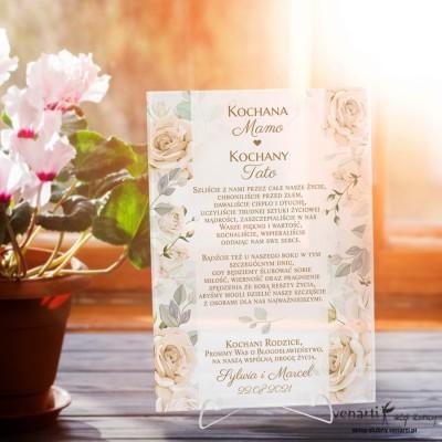 Herbaciane róże Szklana prośba o błogosławieństwo