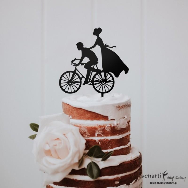 Topper na tort Para na rowerze