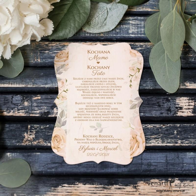 Herbaciane róże Drewniana prośba o błogosławieństwo