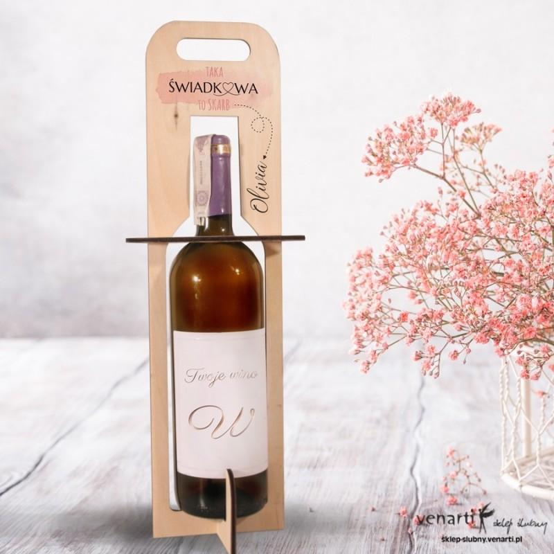 Maźnięcie farbą Nosidełko, torebka na wino dla świadkowej