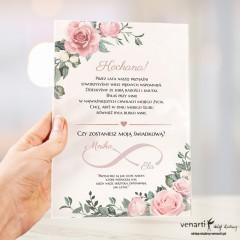Prośba o świadkowanie Szklana tafla Pudrowe róże