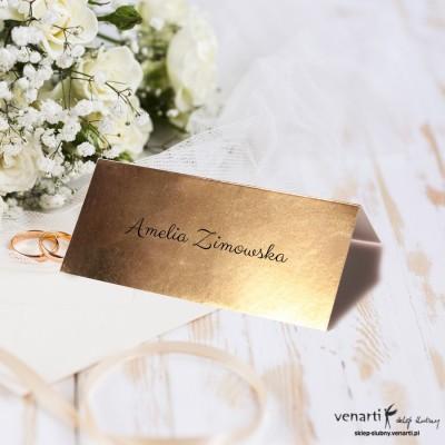 Złote winietki ślubne