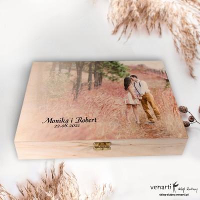 ZESTAW: Szklana tafla w drewnianym etui z podstawkami Podziękowanie dla rodziców