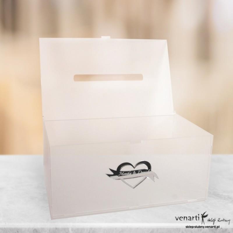 Satynowe, przezroczyste pudełko na koperty