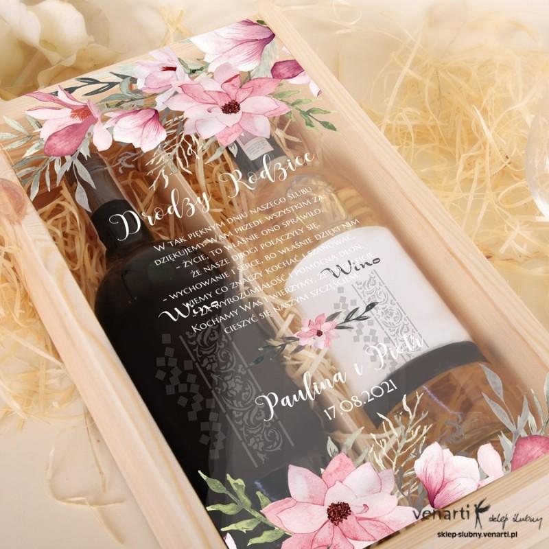 Skrzynka na 2 wina Magnolia