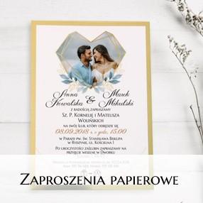 Zaproszenia ślubne - papierowe